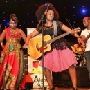 South African Musician Zahara performs at the Green Concert in Harare